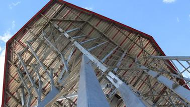 Juni 2018: Aufbau Kletterturm